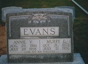 MURRY E AND ANNIE V EVANS