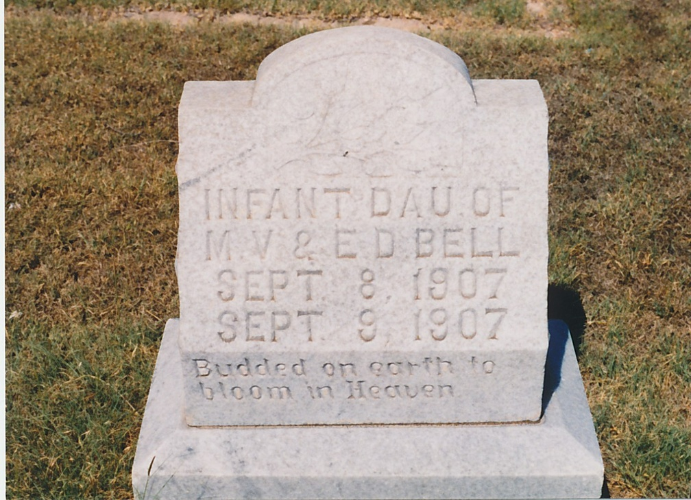 Infant Daughter of M V and E D BELL