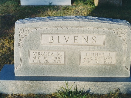 Virginia M and Luther J BIVENS