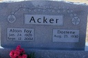 ACKER, Alton Foy and Dorrene