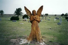 Angel Statue in Happy Cemetery