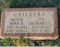 Howard C and Nina E CLAYTON CHILDERS