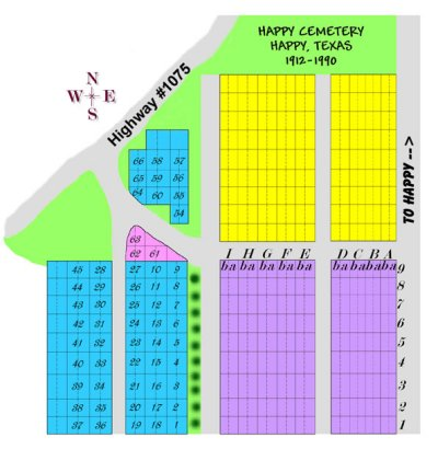 Happy Cemetery Plot Map